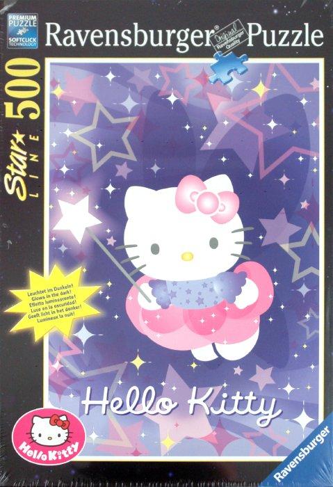 """Иллюстрация 1 из 6 для Пазл-500 """"Hello Kitty"""" (флуоресцентный) (149384)   Лабиринт - игрушки. Источник: Лабиринт"""
