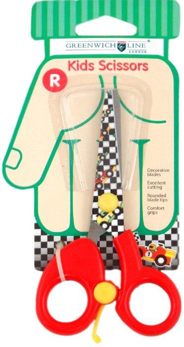 """Иллюстрация 1 из 5 для Ножницы детские 130мм с цветными лезвиями """"Гонки"""" (SAF05051)   Лабиринт - канцтовы. Источник: Лабиринт"""