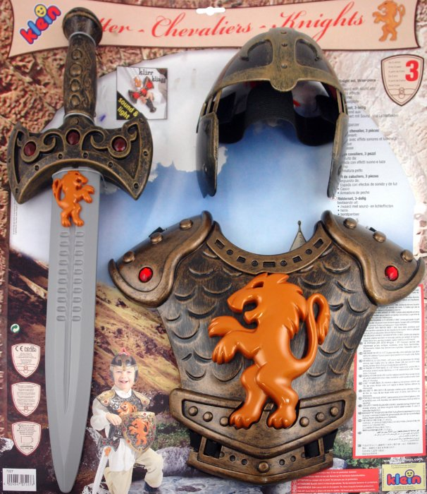 Иллюстрация 1 из 2 для Набор Рыцарь: шлем, меч, латы (7227) | Лабиринт - игрушки. Источник: Лабиринт