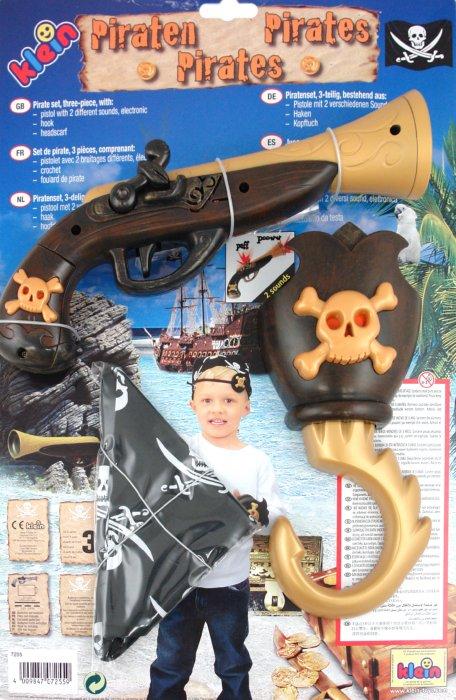 Иллюстрация 1 из 3 для Игрушка- набор пирата из 3 предметов с пистолетом (7255) | Лабиринт - игрушки. Источник: Лабиринт