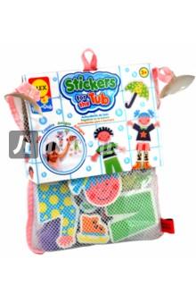 Набор стикеров для ванной Друзья (в сетке) (634W)Игрушки для ванной<br>Замечательная игра для ванной.<br>Веселые человечки - мальчик и девочка.<br>Фигурки собираются из отдельных частей, которые легко приклеиваются к кафелю, если их смочить водой.<br>Упакованы в удобную сумочку-сетку на присосках, которую тоже можно приклеить к стене.<br>Для детей от 3-х лет.<br>Производство: Китай.<br>