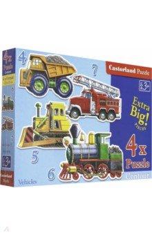 Puzzle-4*5*6*7. Транспорт  (В-04133)Наборы пазлов<br>Набор пазлов из 4, 5, 6 и 7 элементов.<br>Размер собираемой картинки: 4 х 23х15 см.<br>Игра для детей от 3 лет. <br>Правила игры: вскрыть упаковку и собрать игру по картинке.<br>Из-за наличия мелких деталей не рекомендовано детям до 3-х лет.<br>Упаковка: картонная коробка.<br>Производитель: Польша.<br>