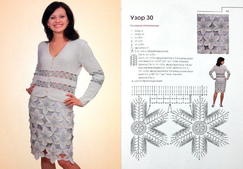 Ажурные узоры для вязания