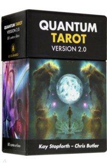 Квантовое Таро. Версия 2.0Гадания. Карты Таро<br>Уникальное Таро, в котором соединены Физика и Таро. Квантовая Таро исследует различные аспекты современной физики, в большинстве своем соединяя космическое пространство и визуально яркие красочные карты.<br>80 карт Тао + инструкция.<br>Упаковка: картонная коробка.<br>