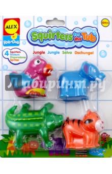 Игрушки для ванны Джунгли (700JN)Игрушки для ванной<br>Игрушки для купания.<br>В наборе пять забавных фигурок - жителей джунглей, с которыми малышу интересно будет плескаться в воде.<br>Упаковано в прозрачную пластиковую сумочку с ручками, на молнии-застежке.<br>Для детей от 6 мес.<br>Сделано в Китае.<br>