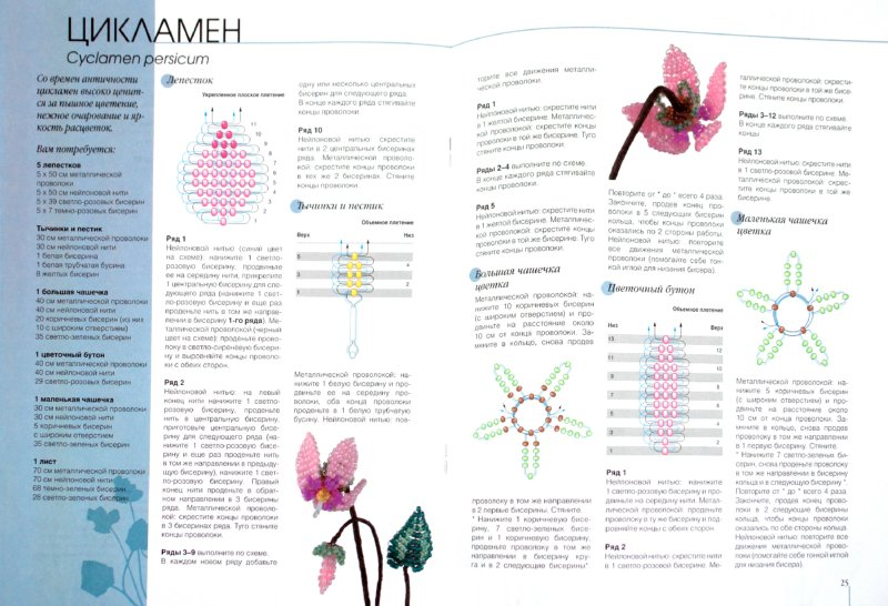 """Иллюстрация 1 к книге  """"Цветы из бисера: Новые идеи """", фотография, изображение, картинка."""
