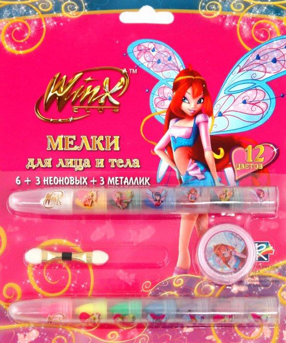 """Иллюстрация 1 из 3 для Мелки для тела 12 цветов с блестками """"Winx"""" (FW-12G/WM)   Лабиринт - игрушки. Источник: Лабиринт"""