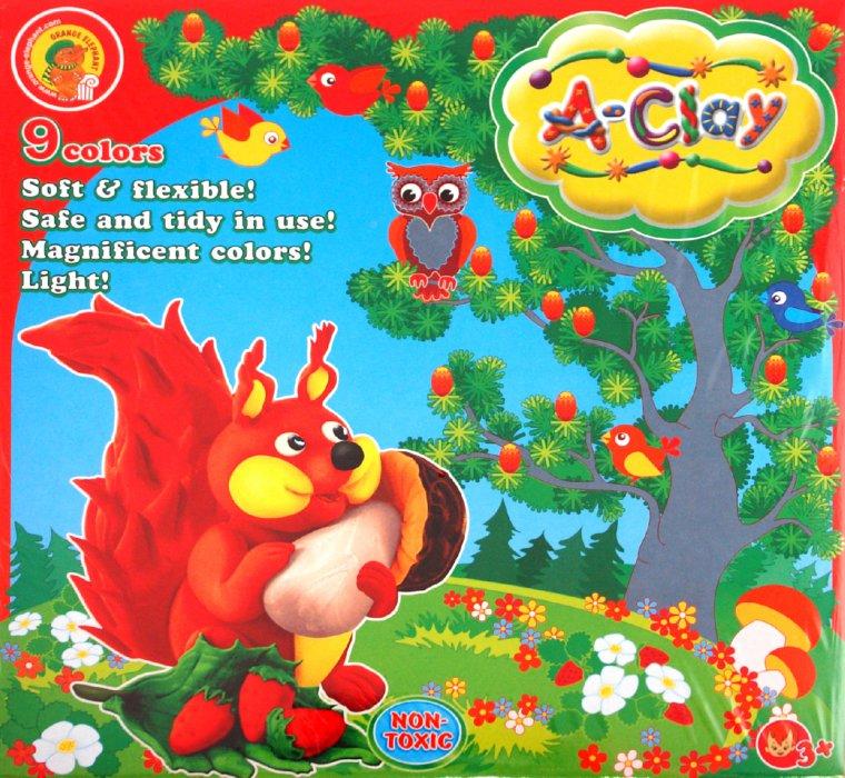 Иллюстрация 1 из 2 для Масса для лепки, 9 цветов (24623) | Лабиринт - игрушки. Источник: Лабиринт