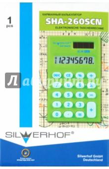 Калькулятор карманный SHA-260SCN, 8-разрядный (601009-03)