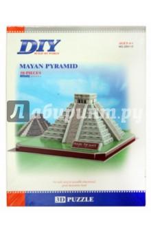 Пазл 3D Пирамида Майя 50 деталей (2801D)