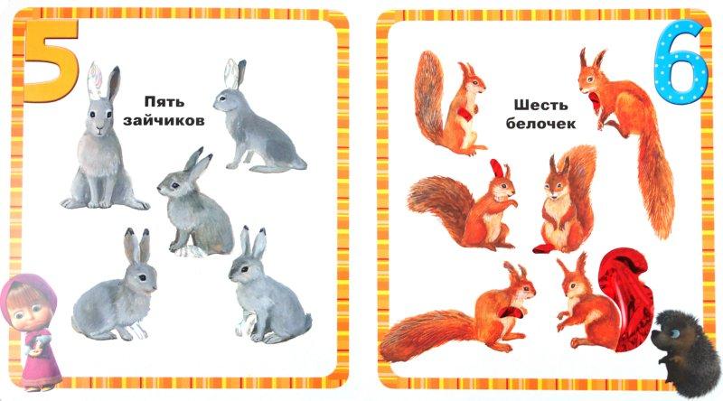 Иллюстрация 1 из 8 для Маша учит цифры. Маша и Медведь. Блестящая книжка   Лабиринт - книги. Источник: Лабиринт