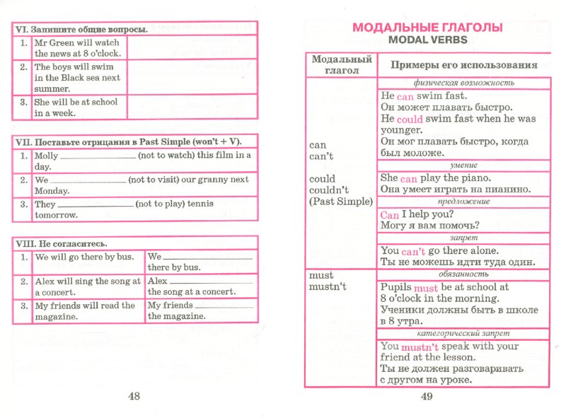 язык в таблицах и схемах с
