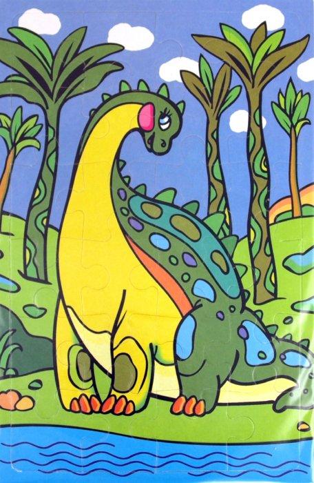 Иллюстрация 1 из 3 для Мягкие пазлы. Динозаврик (2175) | Лабиринт - игрушки. Источник: Лабиринт