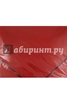 Папка пластиковая. На резинке. Красная (221798) Brauberg