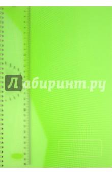 Тетрадь Stila Futura 96 листов, А4, клетка, зеленая (198471)Тетради большеформатные<br>Офисная тетрадь в клетку.<br>Уникальный дизайн обложки. Наличие пластиковой линейки-закладки. <br>96 листов. <br>Тип крепления: двойная евроспираль. <br>Формат листов: А4. <br>Цвет бумаги: белый. <br>Обложки: прозрачный матовый пластик с частичной лакировкой.<br>Срок годности не ограничен.<br>Особых условий и правил хранения не требует.<br>Производство: Россия.<br>