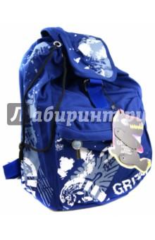 Рюкзак (М-1064)Рюкзаки школьные<br>Рюкзак.<br>Изготовлен из прочного материала. Регулируемые ремни.<br>Имеет одно большое отделение на шнуровке, внутри карман на молнии. На лицевой стороне имеется карман на молнии.<br>Сделано в России.<br>