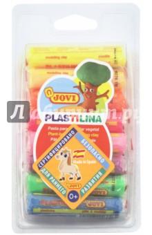 Пластилин 8 цветов*14 гр. флюоресцентный (28F)Пластилин 4—10 цветов<br>Пластилин цветной флюоресцентный 8 шт.*14 гр. в блистере.<br>Пластилин на растительной основе.<br>Очень мягкий, легко разминается и смешивается. <br>Не прилипает, не пачкает руки. Не высыхает.<br>Можно использовать для рисования пластилином. <br>Для детей от нуля лет.<br>Состав: воск, крахмал, белое вазелиновое масло<br>Товар соответствует СанПин 2.4.007-93<br>Страна-производитель: Испания<br>