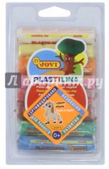 Пластилин (8 цветов по 14 гр.) (28)Пластилин 4—10 цветов<br>Пластилин цветной на растительной основе.<br>Очень мягкий, легко разминается и смешивается.<br>Не прилипает, не пачкает руки. Не высыхает.<br>Можно использовать для рисования пластилином. <br>В наборе 8 цветов по 14 гр.<br>Для детей от 3-х лет.<br>Страна-производитель: Испания<br>