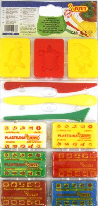 Иллюстрация 1 из 3 для Набор для лепки (пластилин 6 цветов*50 гр., 3 формы, 3 стека) (158) | Лабиринт - игрушки. Источник: Лабиринт