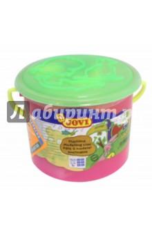 Набор для лепки (пластилин, 3 стека, 6 форм) в банке (14x)Доски для лепки, стеки, формы, фартуки<br>Набор для лепки.<br>В комплект входит:<br>- пластилин 6 шт.*50 гр.<br>- 3 стека<br>- 6 форм <br>Пластилин на растительной основе. Остается мягким в течение длительного времени. Очень пластичный, легко лепится. Широкая гамма цветов, легко смешивается. Пригоден для рисования пластилином.<br>Не пачкает руки. Не прилипает к рукам и рабочей поверхности. Легко счищается. Развивает общую и мелкую моторику.<br>Для детей от 3-х лет. <br>Упаковано в пластиковую банку с крышкой.<br>Страна-производитель: Испания.<br>