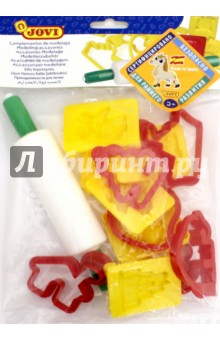 Набор для моделирования (12 форм + скалка) (7/6Rx)Доски для лепки, стеки, формы, фартуки<br>Набор для моделирования.<br>В наборе 12 форм + скалка.<br>Для формирования фигурок. <br>Для детей от 3-х лет.<br>Упаковано в пластиковый пакет с европодвесом.<br>Страна-производитель: Испания.<br>