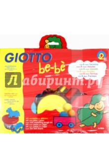 Набор для лепки Giotto be-be. Масса для моделирования - 3 шт., 6 формочек, стек и скалка (462900)Лепим из пасты<br>Масса для моделирования Giotto be-be.<br>В комплект входит: масса для моделирования - 3 цвета по 100 гр., 6 формочек, 1 стек, 1 скалка.<br>Мягкая игровая масса для моделирования, из натуральных компонентов, безвредная, но с соленым вкусом во избежание желания ее проглотить. <br>Масса очень мягкая, не липкая, легко разминается слабыми детскими ручками и моделируется с помощью формочек. Высыхает на воздухе. <br>Во избежание высыхания хранить банку следует плотно закрытой. <br>Развивает общую и мелкую моторику, навыки лепки.<br>Для детей от 2-х лет.<br>Товар соответствует ГН 2.3.3.972-00.<br>Упаковано в картонную коробку с европодвесом.<br>Страна-производитель: Италия.<br>
