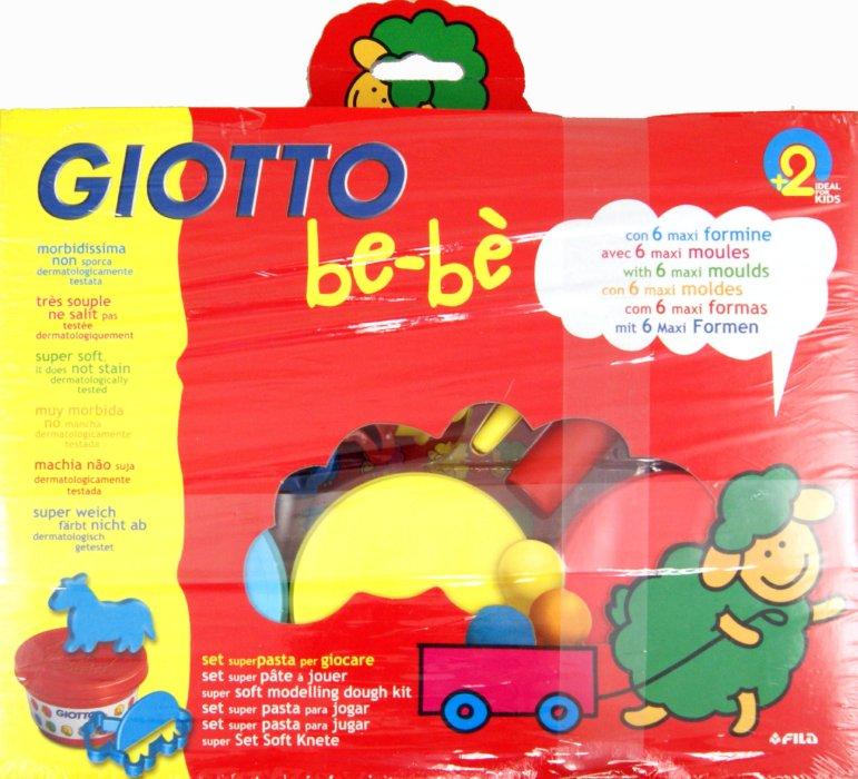 Иллюстрация 1 из 5 для Набор для лепки Giotto be-be. Масса для моделирования - 3 шт., 6 формочек, стек и скалка (462900) | Лабиринт - игрушки. Источник: Лабиринт