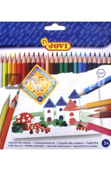 Набор цветных карандашей (24 цвета) (730/24)Цветные карандаши более 20 цветов<br>Цветные шестигранные деревянные карандаши толщиной 7,5 мм, длиной 175 мм.<br>Грифель приклеен к деревянному корпусу, что предохраняет его от поломок при падении. Рисуют на бумаге, ватмане, картоне. Легко отстирываются с большинства тканей. Гипоаллергенны, не содержат глютен.<br>В наборе 24 заточенных цветных карандаша.<br>Состав: пигменты, воск, загустители, наполнители, пластификатор, целлюлоза.<br>Для детей старше 3-х лет.<br>Упаковка с европодвесом.<br>Производитель Китай.<br>