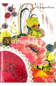 """Ежедневник: недатированный с кружевом """"Цветы-1"""", А6 (22224) Феникс+"""