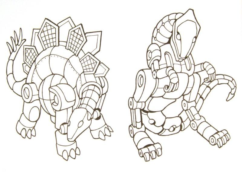 Раскраска трансформеры динозавр
