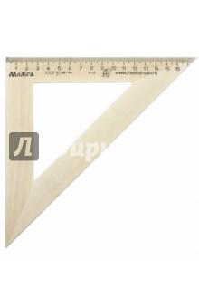 Треугольник 45°/180 мм деревянный (С15) МД НП Красная звезда