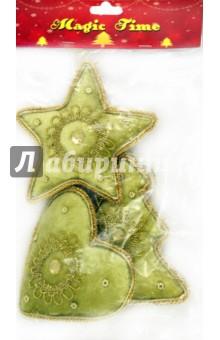 """Набор """"Елочные украшения с подвеской"""" 10см (12540)"""