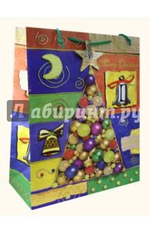 Пакет бумажный новогодний 40,5х49х19 (12738)