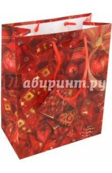 Пакет бумажный новогодний 18х23х10 (17730)