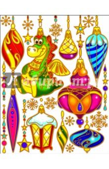"""Украшение новогоднее оконное """"Елочные украшения"""" (22249)"""