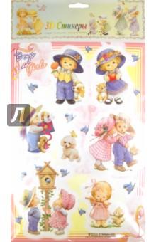 """3D стикеры """"Дети"""", в ассортименте, STRRMH-005 (307005)"""