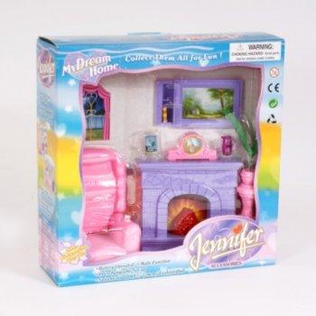 Иллюстрация 1 из 3 для Мебель для куклы (Кресло+камин) (2013) | Лабиринт - игрушки. Источник: Лабиринт