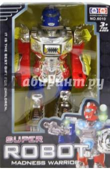 Робот со звуком, светом на батарейках (6010)
