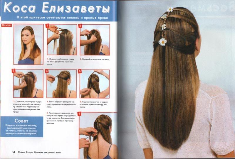 Прически из длинных волос инструкция