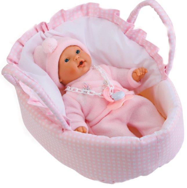 """Иллюстрация 1 из 2 для Кукла-младенец """"Чаро"""" в розовом, плачет, 26 см (1003P)   Лабиринт - игрушки. Источник: Лабиринт"""