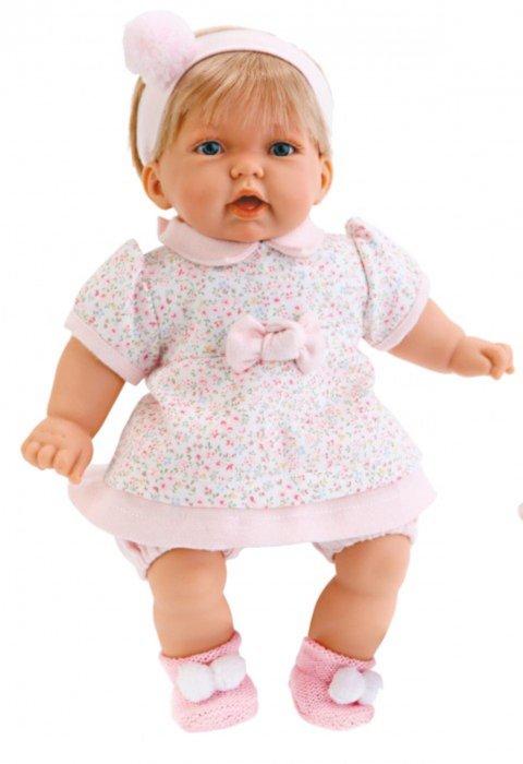 """Иллюстрация 1 из 4 для Кукла """"Анна"""", платье в цветочек, озвученная, 26 см (в пакете) (9007F)   Лабиринт - игрушки. Источник: Лабиринт"""