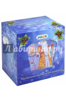 """Шкатулка музыкальная """"Дед Мороз"""" в форме трапеции (41102)"""
