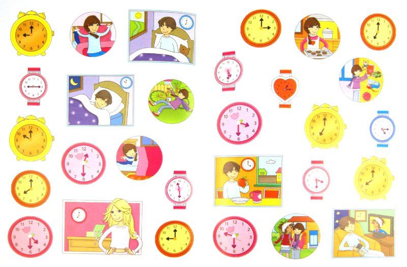 Иллюстрация 1 из 4 для Учусь определять время (с наклейками). Для детей от 5 лет | Лабиринт - книги. Источник: Лабиринт