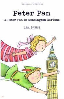 Peter PanИзучение иностранного языка<br>The magical Peter Pan comes to the night nursery of the Darling children, Wendy, John and Michael. He teaches them to fly, then takes them through the sky to Never-Never Land, where they find Red Indians, wolves, Mermaids and... Pirates. <br>The leader of the pirates is the sinister Captain Hook. His hand was bitten off by a crocodile, who, as Captain Hook explains  liked me arm so much that he has followed me ever since, licking his lips for the rest of me . After lots of adventures, the story reaches its exciting climax as Peter, Wendy and the children do battle with Captain Hook and his band. <br>Peter Pan in Kensington Gardens is the magical tale that first introduces Peter Pan, the little boy who never grows any older. He escapes his human form and flies to Kensington Gardens, where all his happy memories are, and meets the fairies, the thrushes, and Old Caw the crow. The fairies think he is too human to be allowed to stay in after Lock-out time, so he flies off to an island which divides the Gardens from the more grown-up Hyde Park... <br>Peter s adventures, and how he eventually meets Mamie and the goat, are delightfully illustrated by Arthur Rackham.<br>Издание на английском языке.<br>