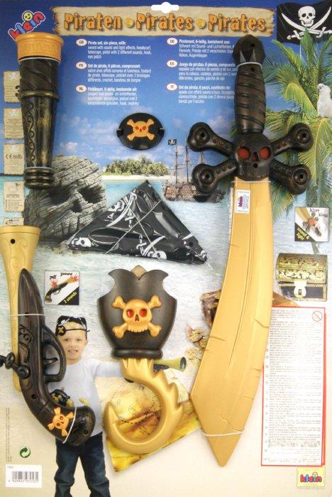 Иллюстрация 1 из 8 для Набор пирата большой, 6 предметов (7253) | Лабиринт - игрушки. Источник: Лабиринт