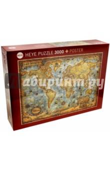 Puzzle-3000 Карта + постер (29275)Пазлы (2000 элементов и более)<br>Пазл-мозаика + постер.<br>Состоит из 3000 элементов.<br>Размер картинки: 117х84см.<br>Правила игры: вскрыть упаковку и собрать игру по картинке.<br>Не давать детям до 3-х лет из-за наличия мелких деталей.<br>Материал: картон<br>Упаковка: картонная коробка.<br>Сделано в Германии.<br>