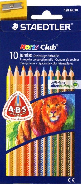 Иллюстрация 1 из 2 для Карандаши 10 цветов + точилка (128 NC10 Noris Club 127 Jumbo) | Лабиринт - канцтовы. Источник: Лабиринт