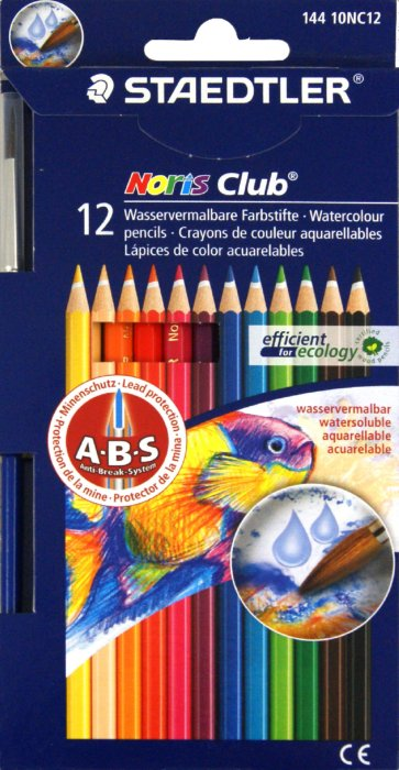 Иллюстрация 1 из 5 для Карандаши 12 цветов акварельные + кисть (144 10NC12 Noris Club 144 10)   Лабиринт - канцтовы. Источник: Лабиринт