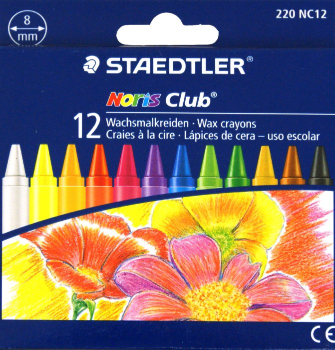 Иллюстрация 1 из 2 для Мелки восковые 12 цветов круглые (220 NC12 Noris Club 220) | Лабиринт - канцтовы. Источник: Лабиринт