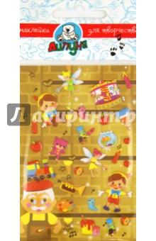 """Наклейки детские """"Сказка Пиноккио"""" (TMS004)"""